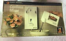 NEW Black & Decker Cordless Mixer KM150 NOS Box shows wear