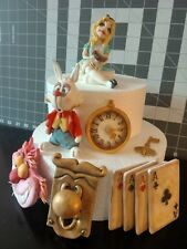 Alice in wonderland cake topper handmade edible set 2 birthday party unofficial