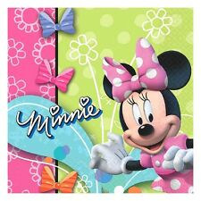 16 Disney Minnie Mouse Bowtique Pink Birthday Party 6.5in Lunch Napkins