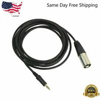 "6ft XLR 3-Pin Male to 3.5mm 1/8"" Stereo Plug Shielded Microphone Mic Cable"