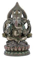Ganesha Lotusthron Hinduismus Brahman Figur Skulptur bronziert Statue 708-2075