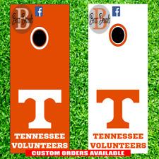 Tennessee Volunteers Cornhole Set of 6 Vinyl Decal Stickers Vols Bean Bag Toss