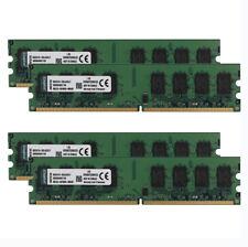 8G 4x 2GB Kingston Kits PC2 5300U DDR2 667MHz Memory RAM DIMM Desktop 240pin @3H