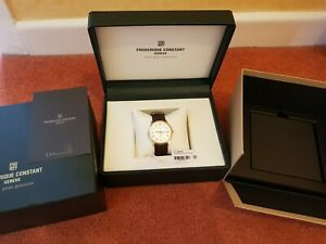Frederique Constant 37mm Slimline Mens Watch FC-235M4S5 Gold