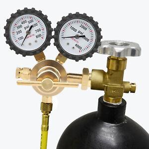 Nitrogen Regulator Gauge Pressure CGA580 Equipment Inlet Connection 0-800 PSI