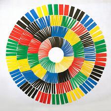 Jumbo Set of 520 Pcs Heat Shrink Tube Sleeve 10 Sizes 5 Colors Polyolefin 2:1