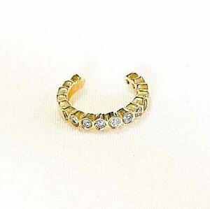14k Gold and Diamond Zoe Chicco No Piercing/ Non-Pierced Earring Cuff