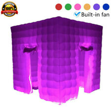 2.5M Inflatable LED Light Air Pump Photo Booth Tent Wedding Birthday Party White