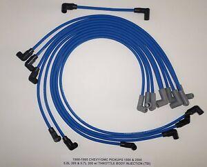 1988-95 CHEVY/GMC PICKUPS 1500 & 2500 5.0L/305 5.7L/350 TBI BLUE Spark Plug Wire