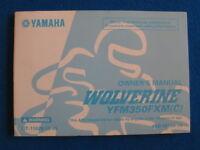 Yamaha 2000 YFM350FXM Wolverine BRAND NEW Factory Owners Manual