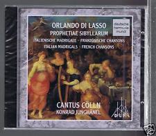 ORLANDO DI LASSO CD NEW PROPHETIAE SIBYLLARUM/ CANTUS COLLN KONRAD JUNGHANEL