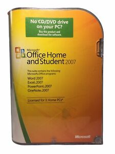Microsoft MS Office 2007 Home and Student for 3 PCs Full English NOS