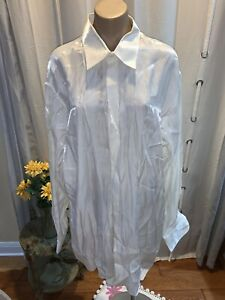 Damante Couture Collection Shiny Off White Dress Party Shirt Mens Size XL MINT!