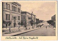 CARTOLINA d'Epoca - CALTANISETTA Citta' : Viale Regina Margerita