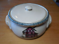 Home & Garden Party USA 2001 BIRDHOUSES 2.25 Qt Round Covered Casserole w Lid