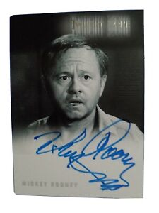Twilight Zone Autograph A- 72 Mickey Rooney Series 4