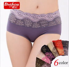 1 piece lady's Modal lace waist hip abdomen Seamless panties free shipping #846
