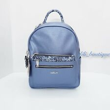 NWT Kipling BP4300 Amory Backpack Floral Pouch Metallic Scuba Diver Blue $159