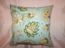 "2 DECORATIVE THROW PILLOW CUSHION COVERS 17+17"" INDOOR OUTDOOR"