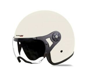SB-40 Dot Vintage Mat Off White With Open Face Clear Visor L Size 600mm ECs
