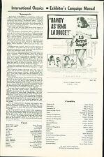 La bonne soupe (1964)  Annie Girardot, Marie Bell, Gérard Blain pressbook