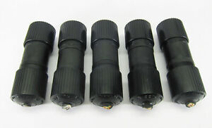 Lot of 5 - Hubbell Male Female 30A 250V Twist Lock Plug pairs Nema L6 30
