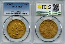 1876-CC $20 Gold Coin PCGS VF35