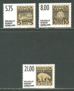 Greenland 2001 Unissued Stamps--Attractive Postal History Topical (387-89) MNH