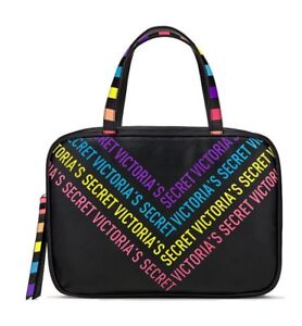 Victoria's Secret Jetsetter Travel Case Make Up Bag RAINBOW New