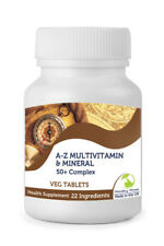50+ Plus A-Z Multivitamin & Mineral Complex 30/60/90/120/180/250 Veg Tablets