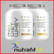 PHD Nutrition Diet Whey Protein 2kg Lean Degree 100 Caps Last 24 Cherry Bakewell 90 Capsules Non Stimulant