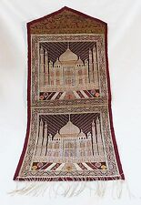 Tapestry fabric wall hanging pocket letters holder embroidery of taj mahal