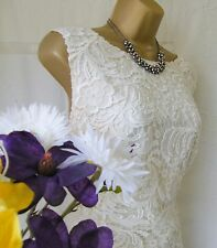 "***MONSOON PRE-OWNED ""LUCIENNE IVORY"" DRESS SIZE 16"