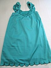 CATIMINI BNWT GORGEOUS MERMAID GREEN COTTON SUMMER CAT DRESS SCALLOP HEM AGE 16