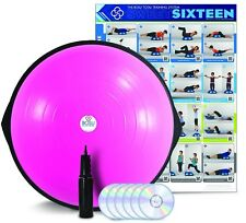 BOSU BALL PRO Balance Trainer Exercise Ball Commercial Professional Gym Fun PINK