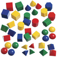 Edx Education Mini Geometric Solids - In Home Learning Toy For Early Math Geom
