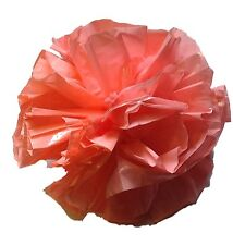 "25 Car Limo wedding Decoration Plastic Pom Poms Flower 4"" - coral"