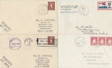 1958-63 lot of 4 x Saint John Canada Paquebot Posted at sea covers