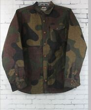 New Burton Mens Mystic Wool Snowboard Jacket Medium Mountain Camo