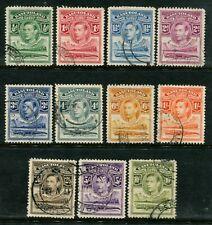 BASUTOLAND - 1938 KGVI Set to 10/- 'OLIVE-GREEN' VFU SG18-28 Cv £45 [A8722]