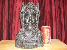 benin ebony wood carved figure,large,antique,rare item.heavy,african carving,old