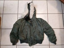 Alpha Industries Military Green  N-2B Parka Flying Bomber Mens Jacket Small