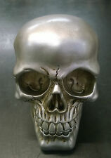 Halloween Skull Skeleton head Metal Look Terminator Style Ornament Money Bank