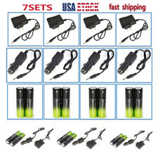 7Set Li-ion 18650 Rechargeable Battery For LED Headlamp Light+AC*Car Charger US