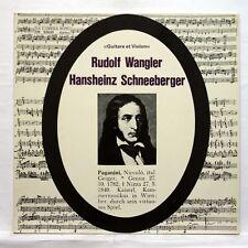 RUDOLF WANGLER, SCHNEEBERGER - PAGANINI guitar & violin works DA CAMERA LP EX+