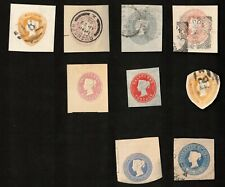 Great Britain Mixed Lot of 9 Cut Compound Envelopes, Hinged