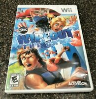 Nintendo Wii ABC Wipeout The Game - Clean & Tested Working - Free Shipping