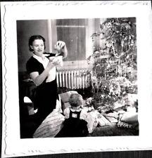 VINTAGE PHOTOGRAPH '40 X-MAS TREE CHRISTMAS ORNAMENTS YREKA CALIFORNIA OLD PHOTO
