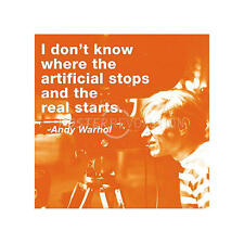 POP ART PRINT - I Don't Know Where Artificial Stops by Andy Warhol Poster 11x14