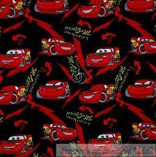 BonEful Fabric Cotton Quilt Flannel Red Boy DISNEY CARS Lightening McQueen SCRAP